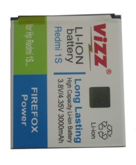 Vizz Battery Double Power For Xiaomi Redmi 1S - 3000mAh terpercaya