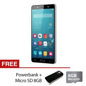 Polytron Smartphone Zap6 4G550 5,5inch - RAM 2GB + ROM 16GB - Grey + Free Powerbank + Micro SD