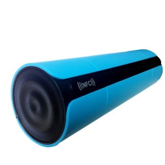 KR-800 Rechargeable Bluetooth NFC LED Digital Display Touching Button Speaker Blue (Intl)