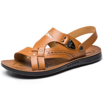 New Summer Men's Fashion Open-toed Sandals(Yellow) - Intl