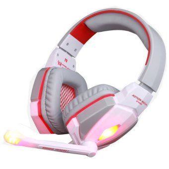 KOTION EACH G4000 Stereo Gaming Headset Noise Cancelling with Mic HiFi Driver LED Light for PC (White) (Intl)