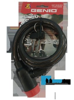 Genio Bike Lock / Kunci Spiral Sepeda - Hitam