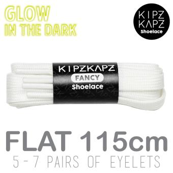 harga KipzKapz Shoelace - White Glow In The Dark 115cm - Tali Sepatu Pipih / Flat 8mm Lazada.co.id