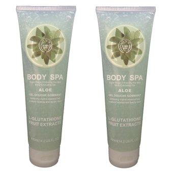 Body Spa - Whitening and Exfoliating Gel - L-Glutathione - Aloe - 400ml - 2pcs