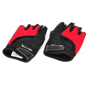 Sports Cyling Half Finger Gloves (Black + Red) outdoor adventure - Intl