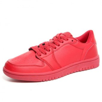 JustCreat Women's Fashion Board Sneakers Lovers Board Shoes(Red) - Intl