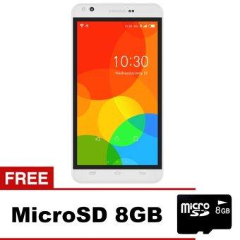 Himax Polymer 2X - 8GB - Putih + Gratis MicroSD 8GB