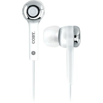 CobyCV-E101WHStereo Earbuds with Mic Headphones CVE101 White (Intl)
