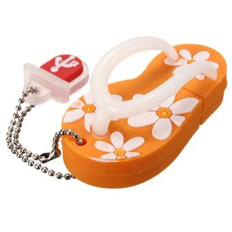 USB 2.0 Flash Drive Memory Stick Thumb Pen Drive U Disk Gift Orange - Intl