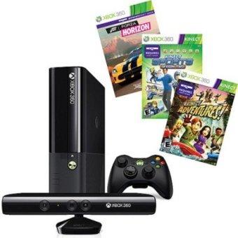 Microsoft XBOX 360 Slim E - 4 GB + Kinect - Hitam