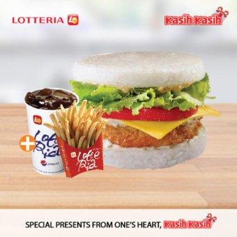 Lotteria Rice Shrimp Burger