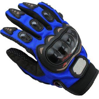 Motorcycle Powersports Racing Gloves (Blue) - Intl