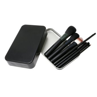 Professional Makeup Brushes Tool Soft SCF Cosmetics Powder Eyeshadow Set-7pcs(black) - Intl