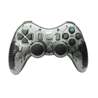 K-One Gamepad Stik Wireless 2.4G Support PS2/PS3/PC/ANDROID TV - Abu Abu