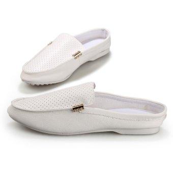 PF Summer Men's Lightweight Lazy Shoes(White)- Intl