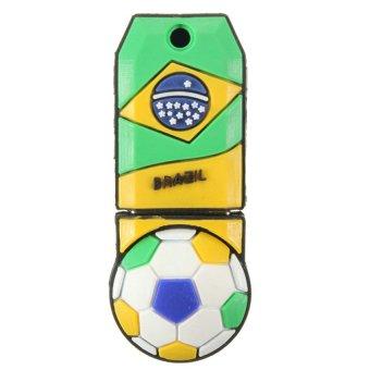 UJS USB 2.0 4GB Penna Football Model Flash Memory Stick Pen Drive Gift Brazil (Multicolor) (Intl)