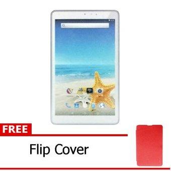 Advan Vandroid T3H - 8GB - Putih + Gratis Flipcover Merah