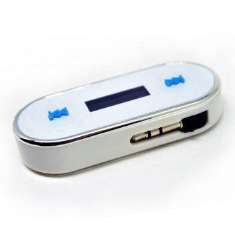 FM Transmitter 3.5mm Jack Plug for Smartphone - Putih