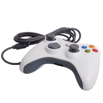 Generic USB Wired Game Pad Joypad Controller for Microsoft Xbox 360 Slim PC Color White