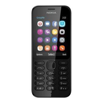 Nokia 222 Dual Sim - Hitam