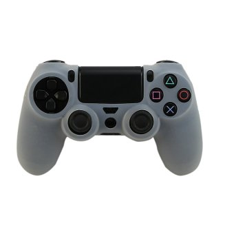 Silicone Rubber Skin Gel Case Cover for Playstation 4 PS4 Controller (White) (Intl)