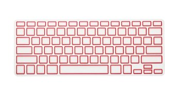 HRH Candy Frame Silicone Waterproof Keyboard Protector Cover Film For Apple Macbook Pro retina 13 15 17 Air 13 inch (Red) - Intl
