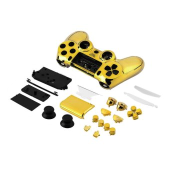 CHEER Chrome Golden Housing Shell Parts Kit Replacement for PlayStation4 Controller (Gold) - Intl