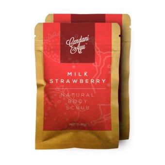 Cendani Ayu Milk-Strawberry Natural Body Scrub (2 Sachet)