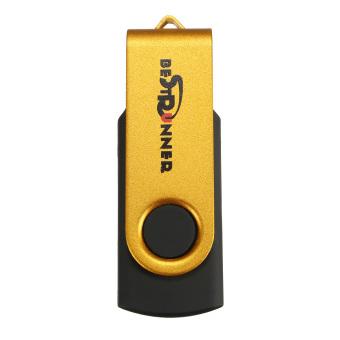 16GB USB Flash Memory Stick Thumb Drive Disk Rotate Fold Pen Golden (Intl)