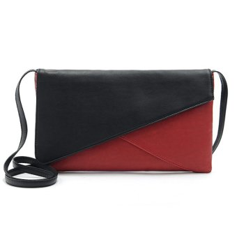 CCC Women pu leather patchwork cross-body bags(Red)- Intl