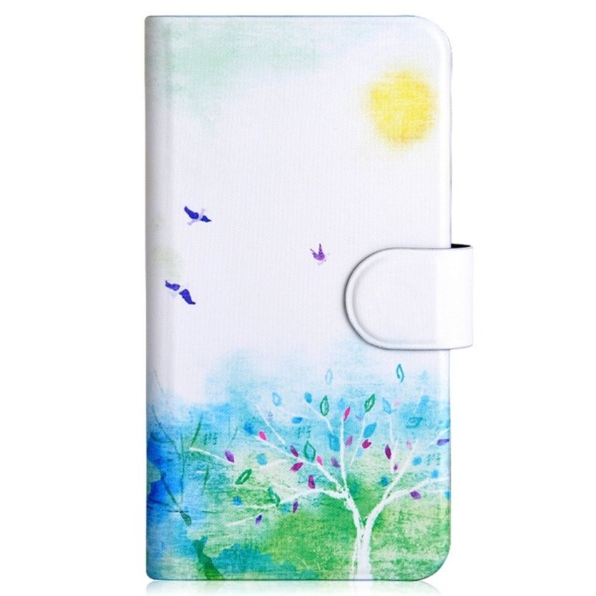 Bird And Tree Spring Style Design Card Slot Magnetic PU Leather Flip Case Cover Compatible For Haier i860 W860