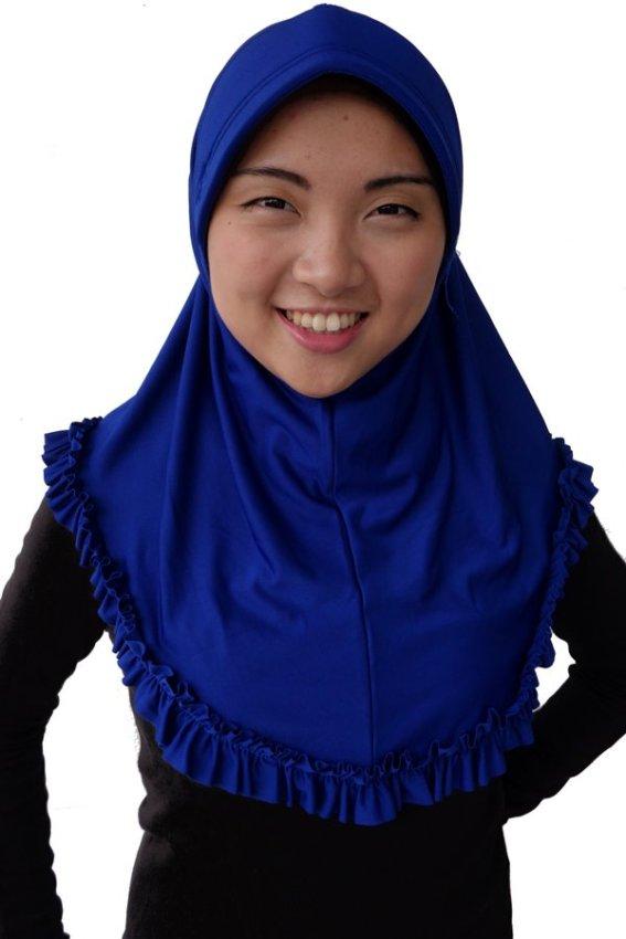Elfs Shop - Hijab Syria Jersey - Biru Tua