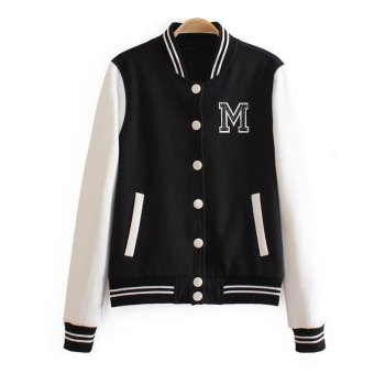 Winter Baseball jacket clothes women's casual long-sleeved sweater coat hoodies sweatshirt warm and comfortable S-2XL Style 2