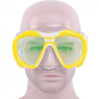 Whale Stylish Anti-fog Electroplating Silicone Colorful Swimming Goggles Glasses Scuba Snorkel Diving Mask (Yellow) - INTL