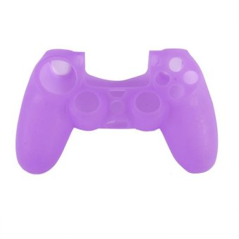 Soft Silicone Rubber Gel Skin Case Cover for Sony PlayStation 4 PS4 Controlle Purple (Intl)