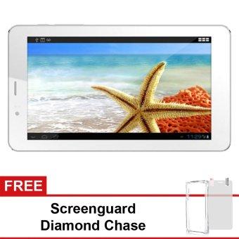 Advan E1C 3G - 8GB - Putih+ Gratis Screenguard + Diamond Case