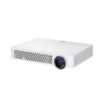 LG PF87K Portable LED 3D Mini Projector Mini-beam TV Master Full HD WiFi 1000 Ansi (White) (Intl)