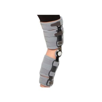 Dr Ortho ROM Hinged Knee Brace ACL/OA Post-Op OH-752 - Abu-abu - All Size