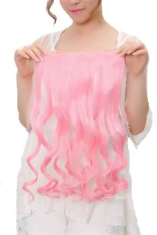 60cm Cosplay Straight Hair Extension Weft Clip-in-hair (pink)