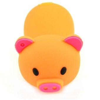 S and F Pig Animal USB Flash Drive Cartoon Computer Flash Memory Stick Pendrive 64GB (Orange) - Intl