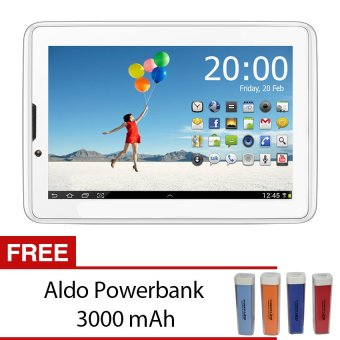 Aldo Epad T2 - 8 GB ROM - Putih + Gratis Powerbank Aldo 3000 mAh