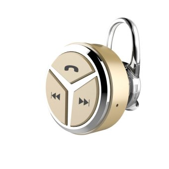 2016 Newest Wireless Mini Bluetooth Earphone Headset Ear style Microphone Noise Cancelling Sports Headphone for Moblie phone(Gold) (Intl)