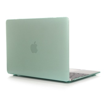 Matte Transparent Cover Hard Case for Apple Macbook Pro 15.4 inch (Green) - INTL