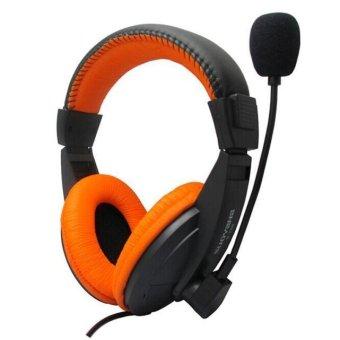 Stereo Earphone Headband Gaming Headset Microphone for PC Notebook (Orange) - Intl