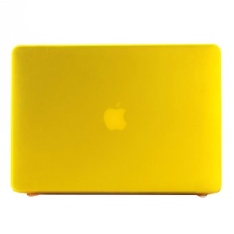 15.4 Inch Pro Laptop Shell Plastic Cover Case Protector for Macbook (Yellow) (Intl)