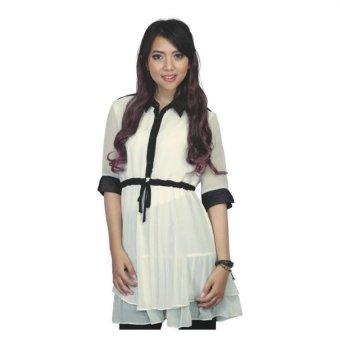 harga Aleganza Fashionable Dress Baju Atasan Wanita - Putih Lazada.co.id