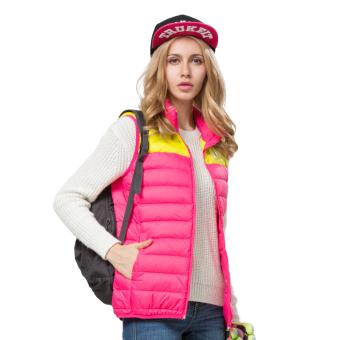 VENDOOR Outdoor Warm Vest Women's Waist Coat Outerwear Sleeveless Jackets(Rose) (Intl)