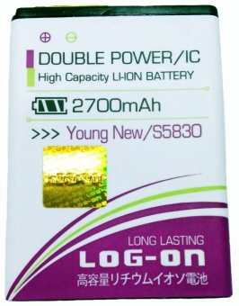 Log On Battery For Samsung Young New/S5830 terpercaya