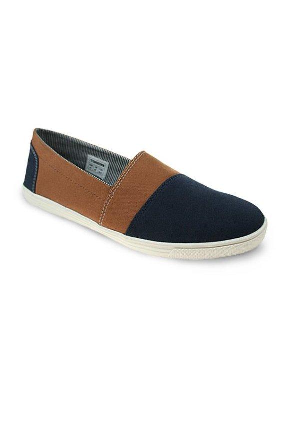 Tomkins Sepatu Wick - Cokelat-Biru