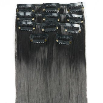 New Long Straight Full Head Clip In On Hair Extensions G
